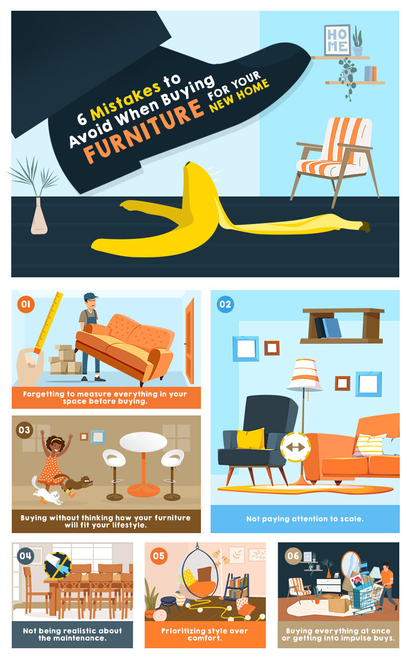 6 Mistakes to Avoid When Buying Furniture for Your New Home