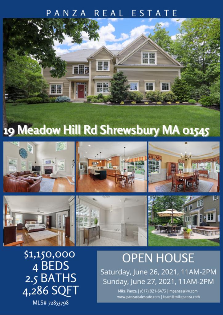 OPEN HOUSE: 19 Meadow Hill Rd Shrewsbury MA 01545
