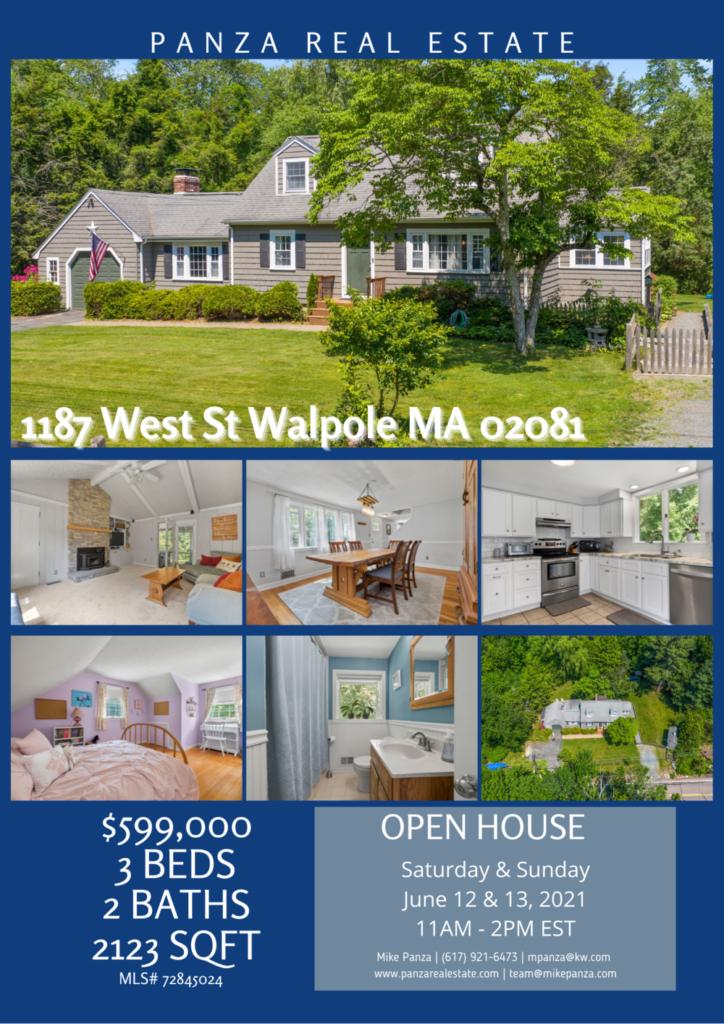 OPEN HOUSE: 1187 West St Walpole MA 02081
