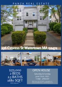 OPEN HOUSE: 156 Cypress St Watertown MA 02472