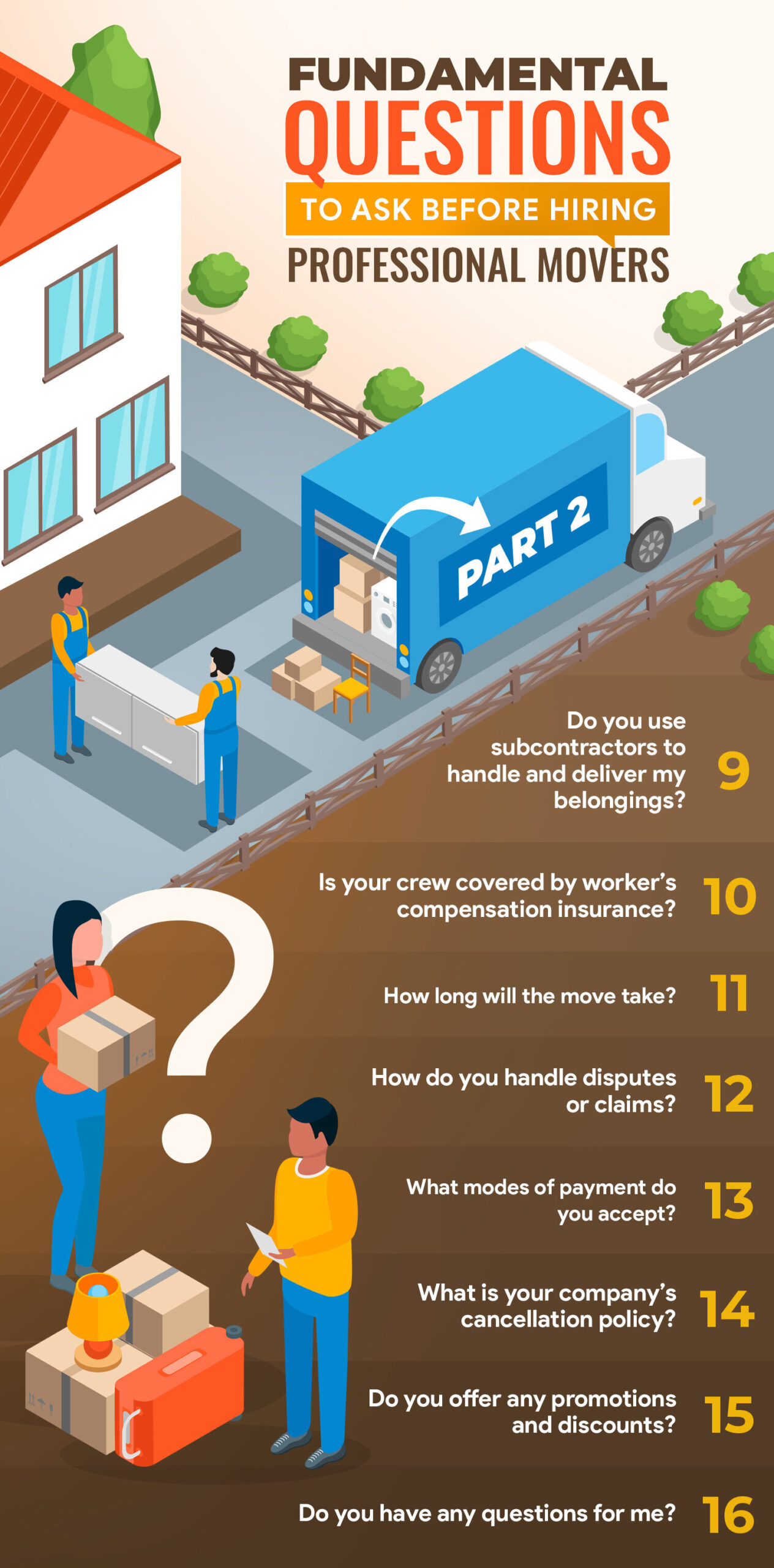 Fundamental Questions To Ask Before Hiring Professional Movers: Part 2